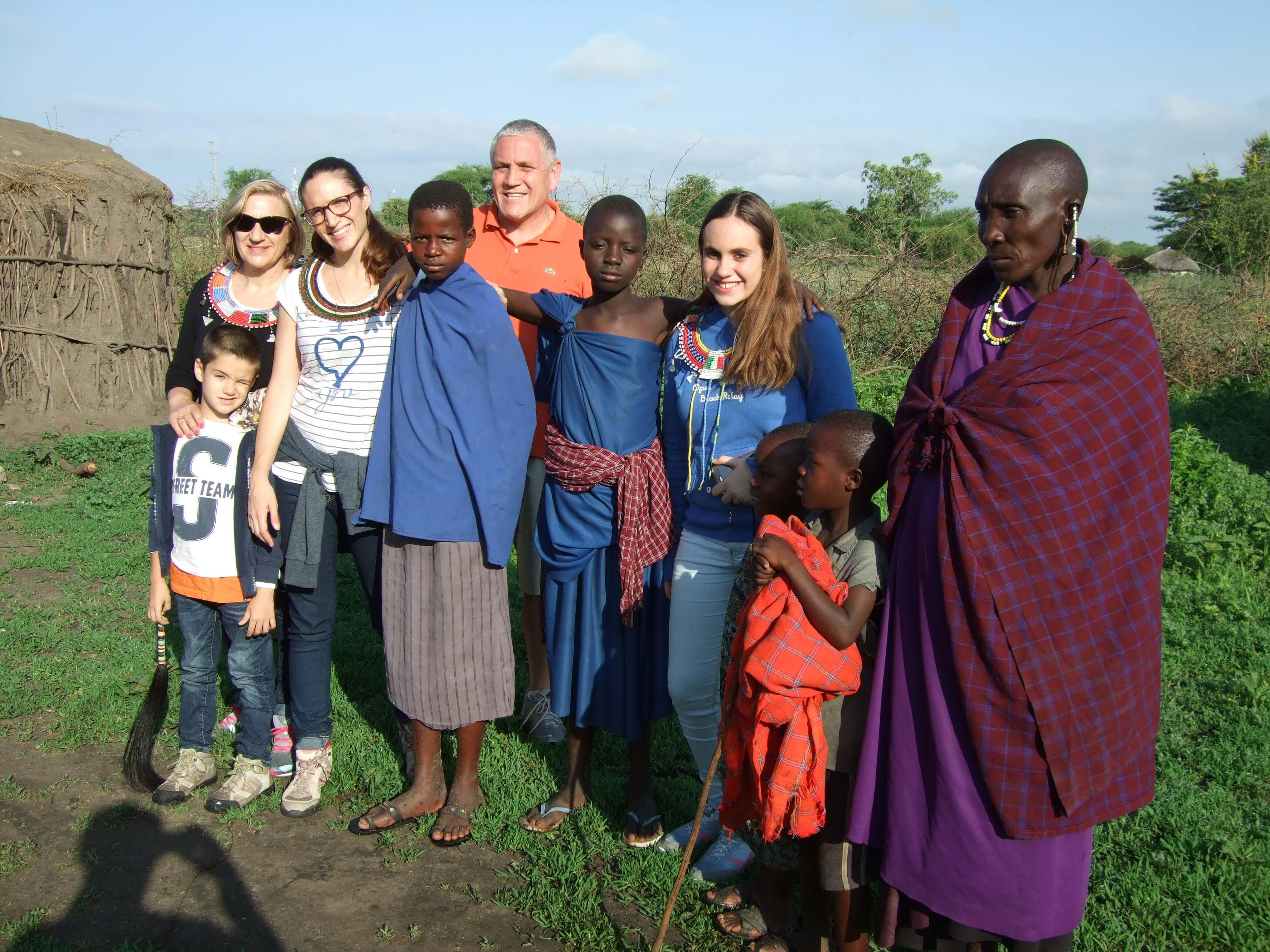 familia con maasai