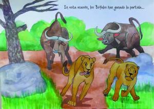pág 9 huída leonas final